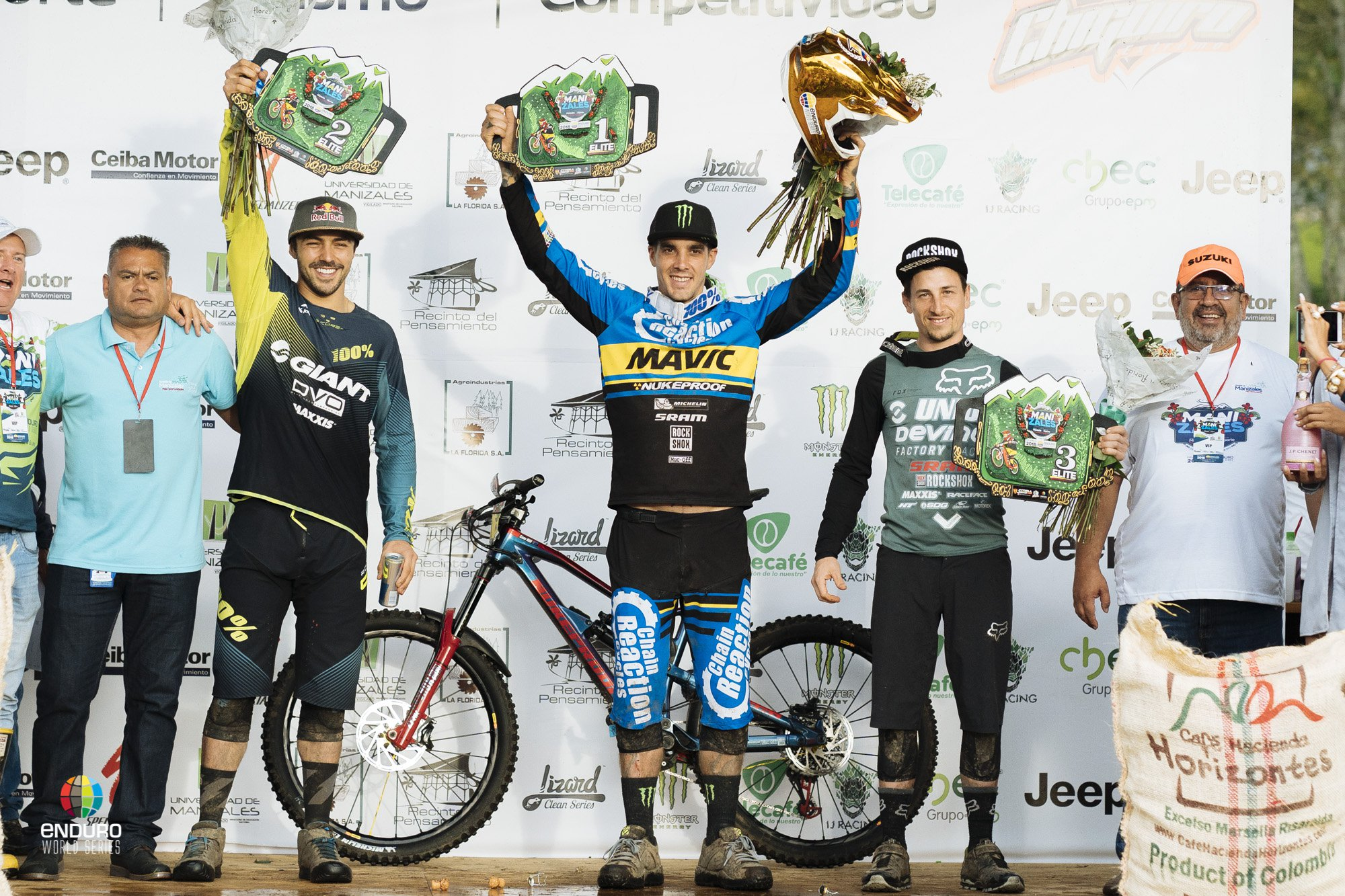 Pro Men's Podium. 2018 Colombia EWS