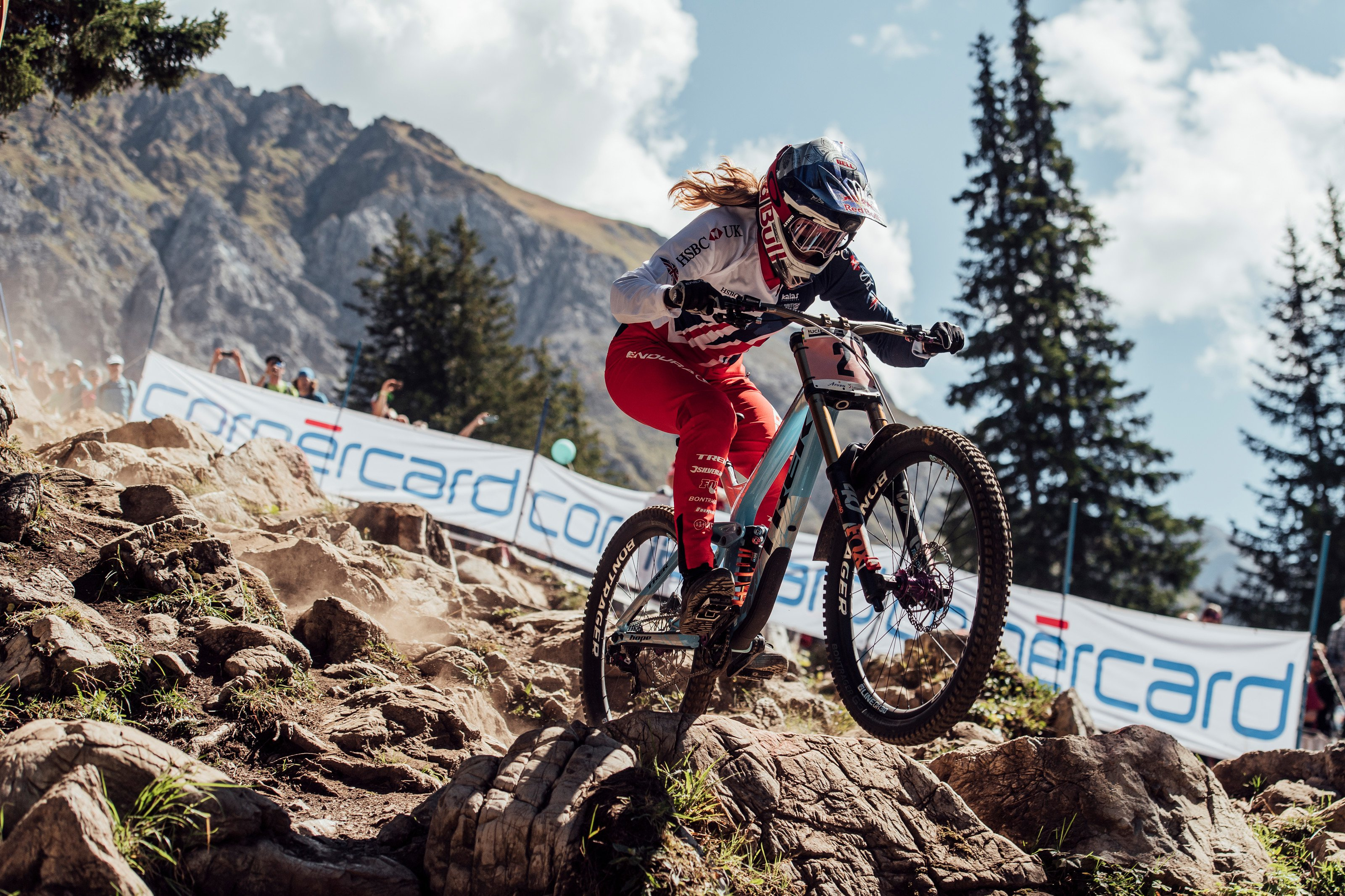Rachel Atherton in Lenzerheide for the 2018 DH World Championships