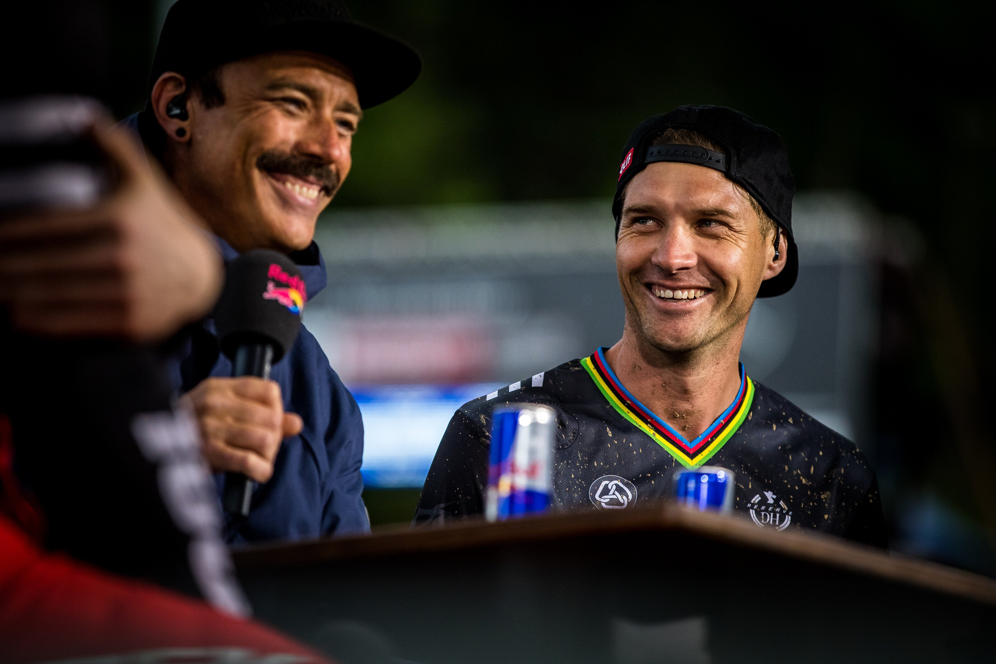 Greg Minnaar had to watch while being interviewed on Red Bull TV as he missed the top 60 in Maribor