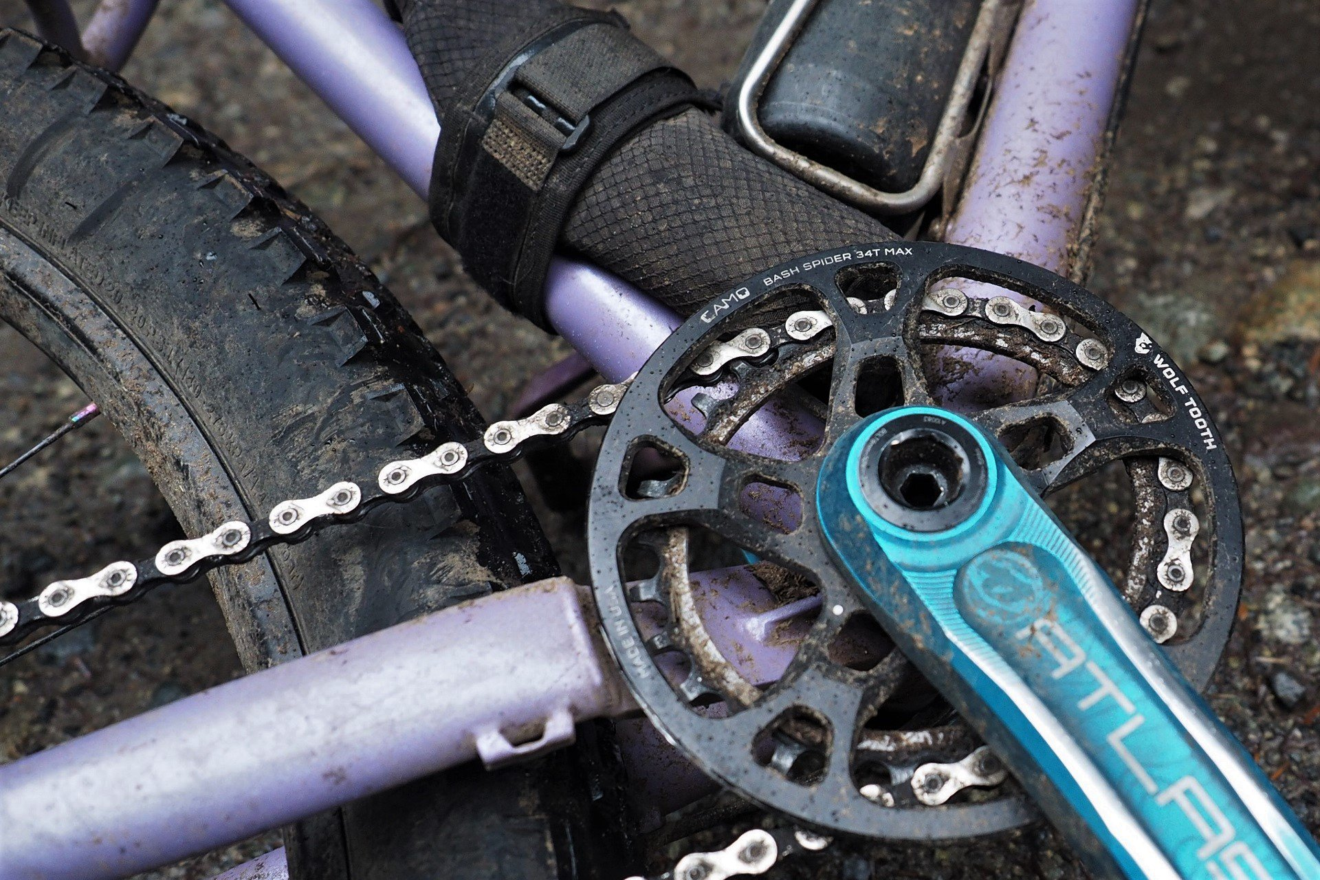 Wolf Tooth Components Bash Guard for 104 BCD Cranks Fits 32t 34t Chainrings for sale online