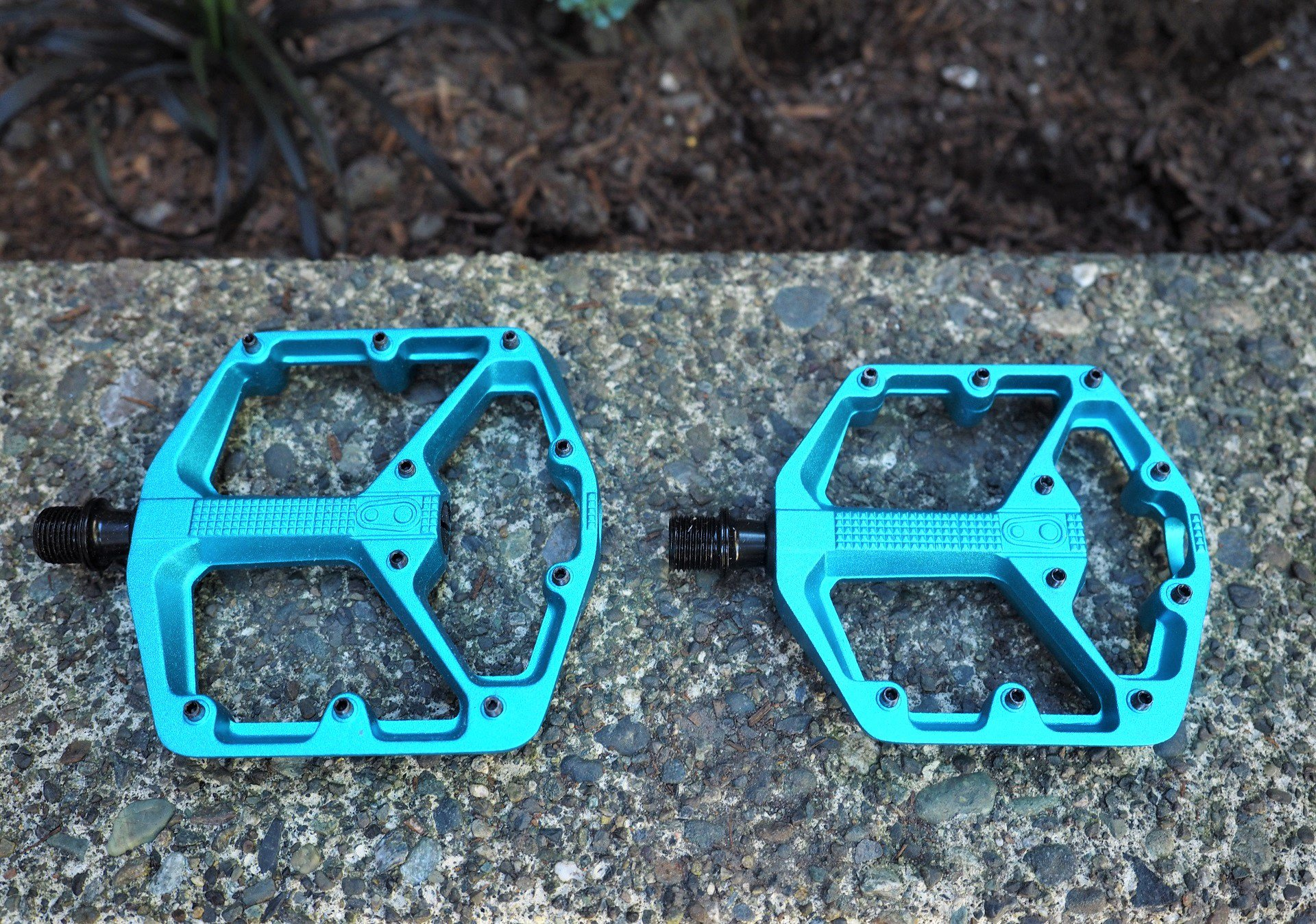 Crank Brothers Stamp 3 Small Pedals Electric Blue