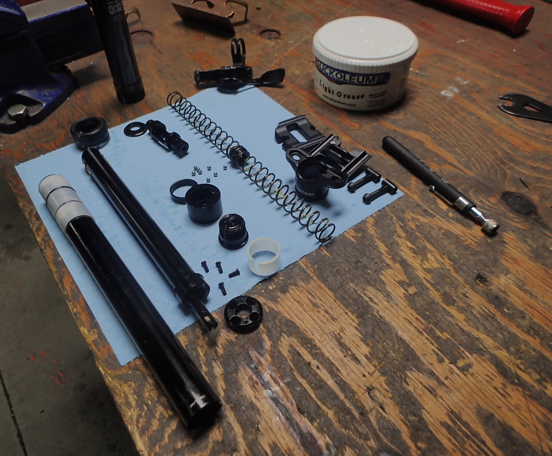 E13 Dropper Post Teardown on the Bench