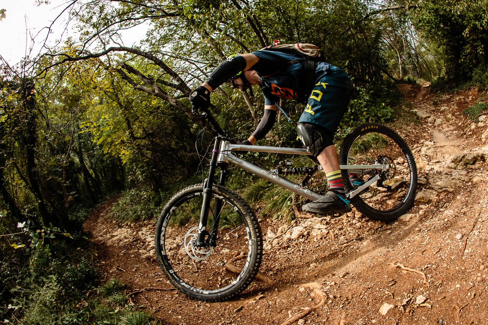 Chris Porter on his XL GeoMetron G1 during testing with EXT