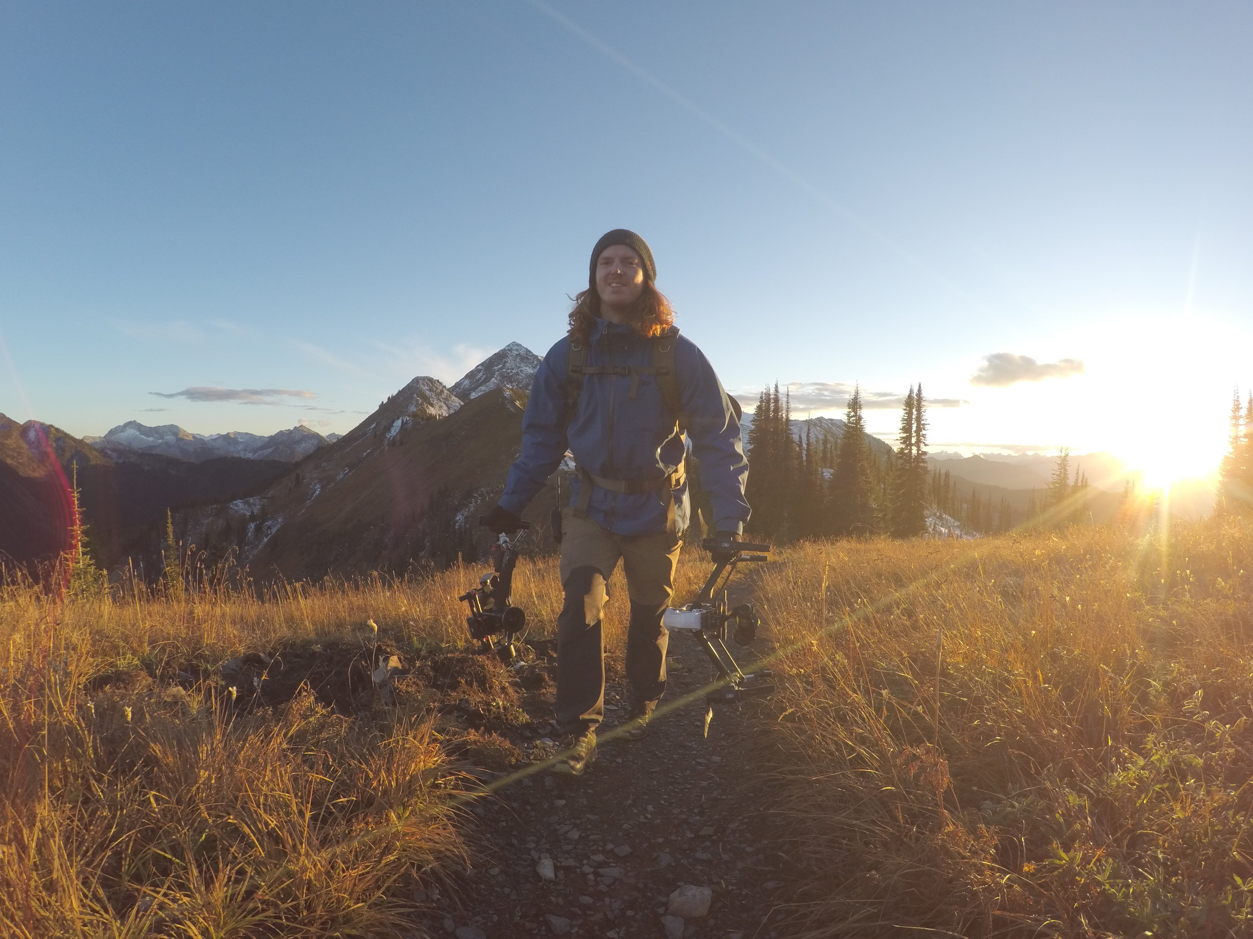Garret Van Swearingen on Reco Peak at Retallack Lodge
