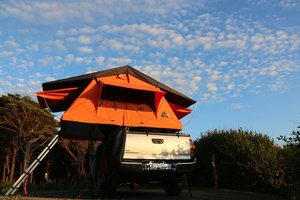 Roof Top Tent - Set-up on the Oregon Coast