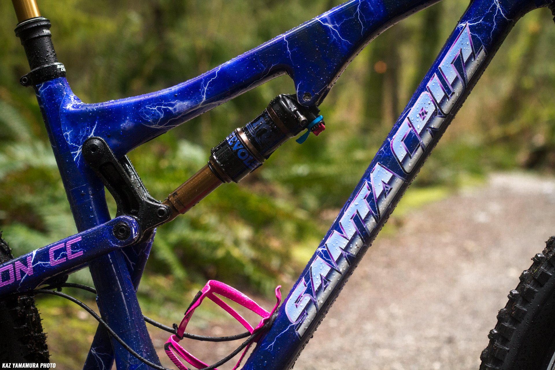 Kaz's Custom Santa Cruz Bronson CC - Side Closeup