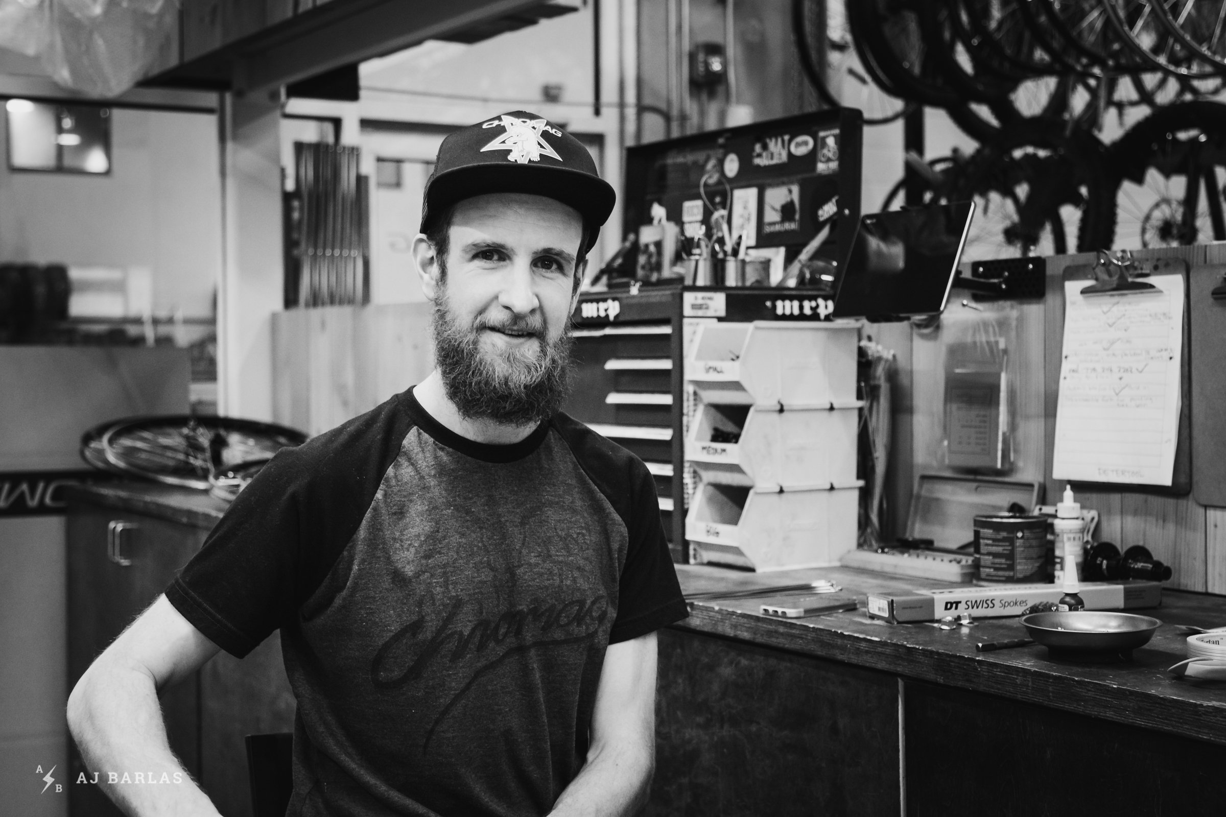 Chromag Staff - Pete Fowler builds bikes and wheels