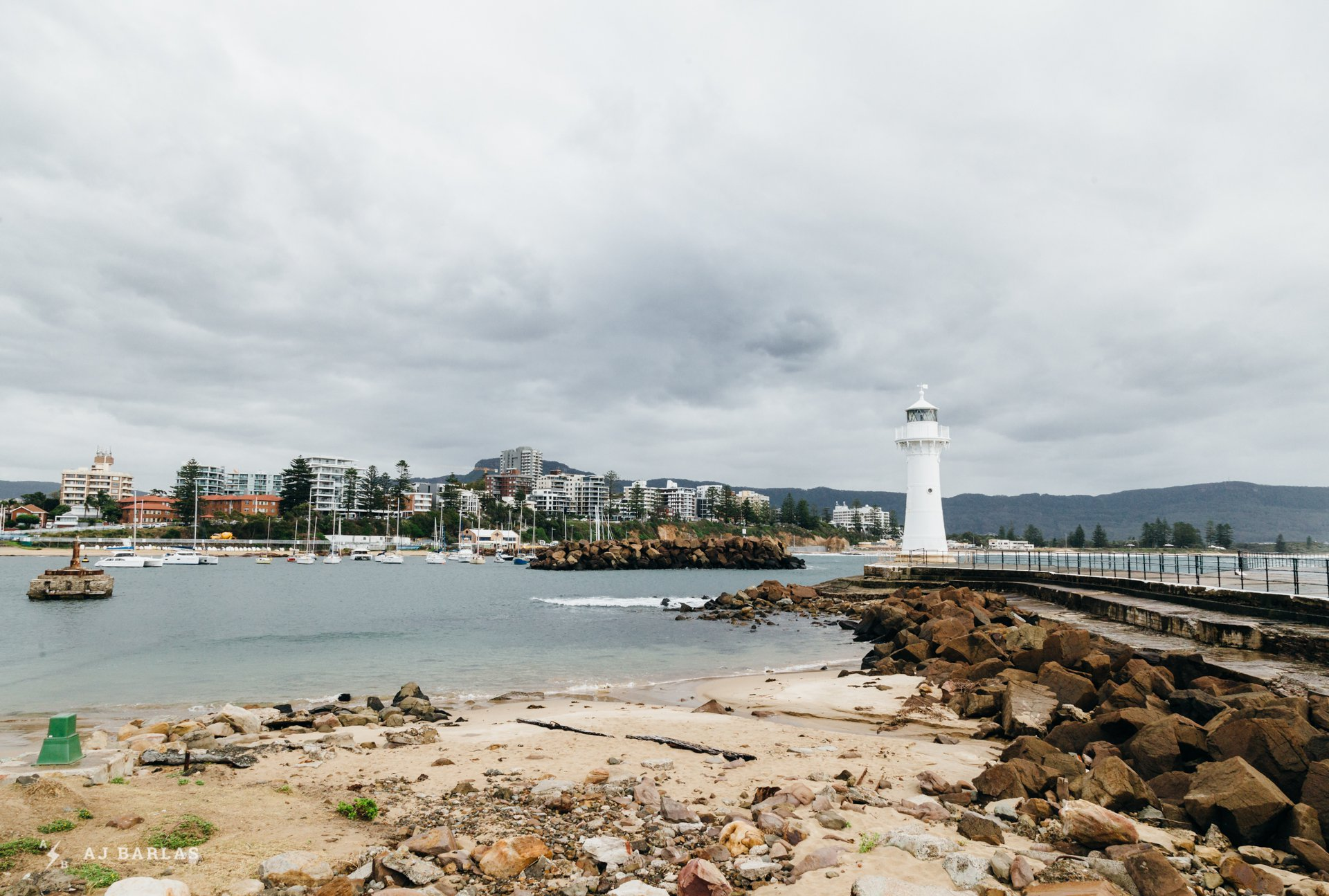 Wollongong from the small harbour.
