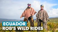 Rob Warner and Fin Iles in Ecuador