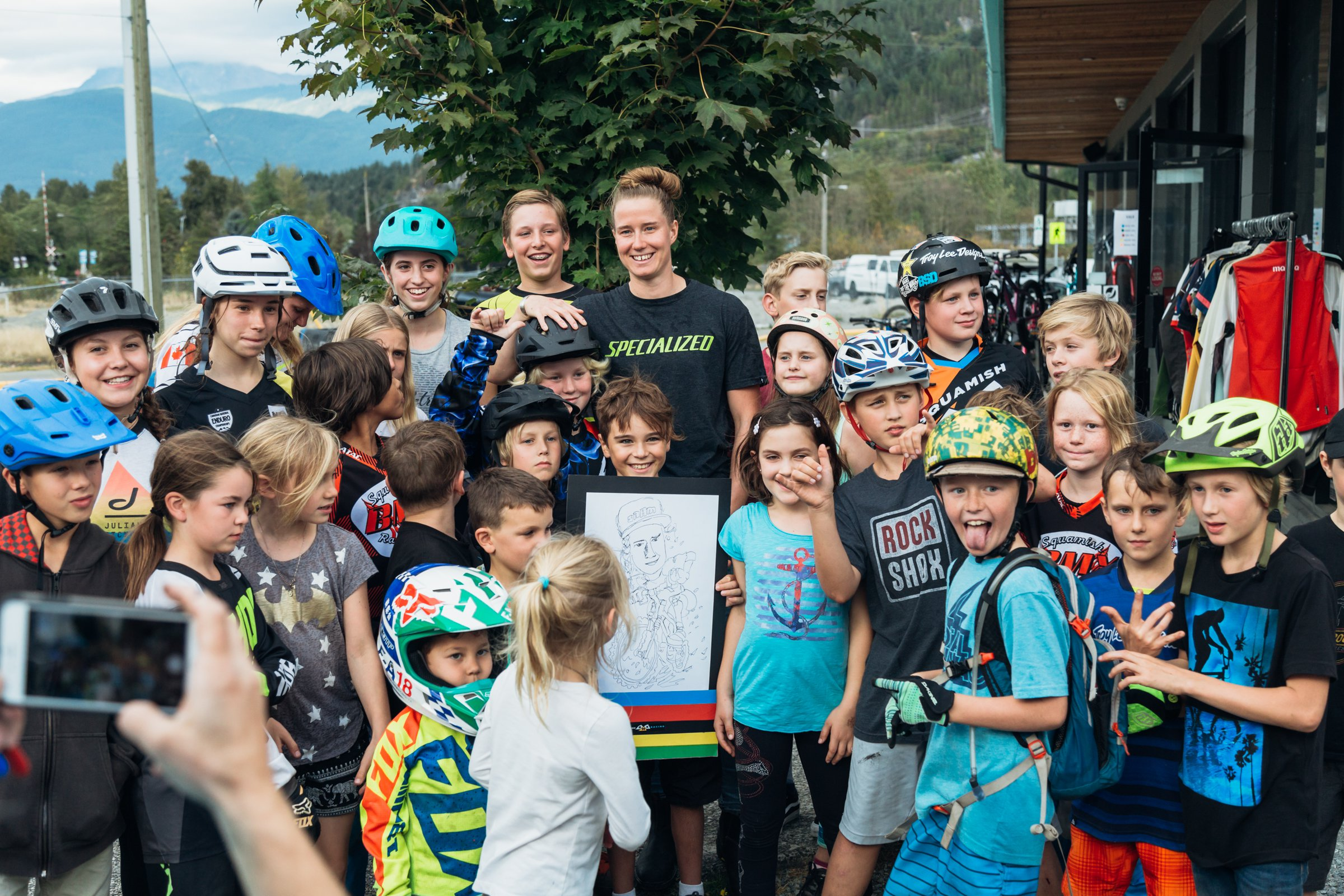 Miranda with some Squamish youth.