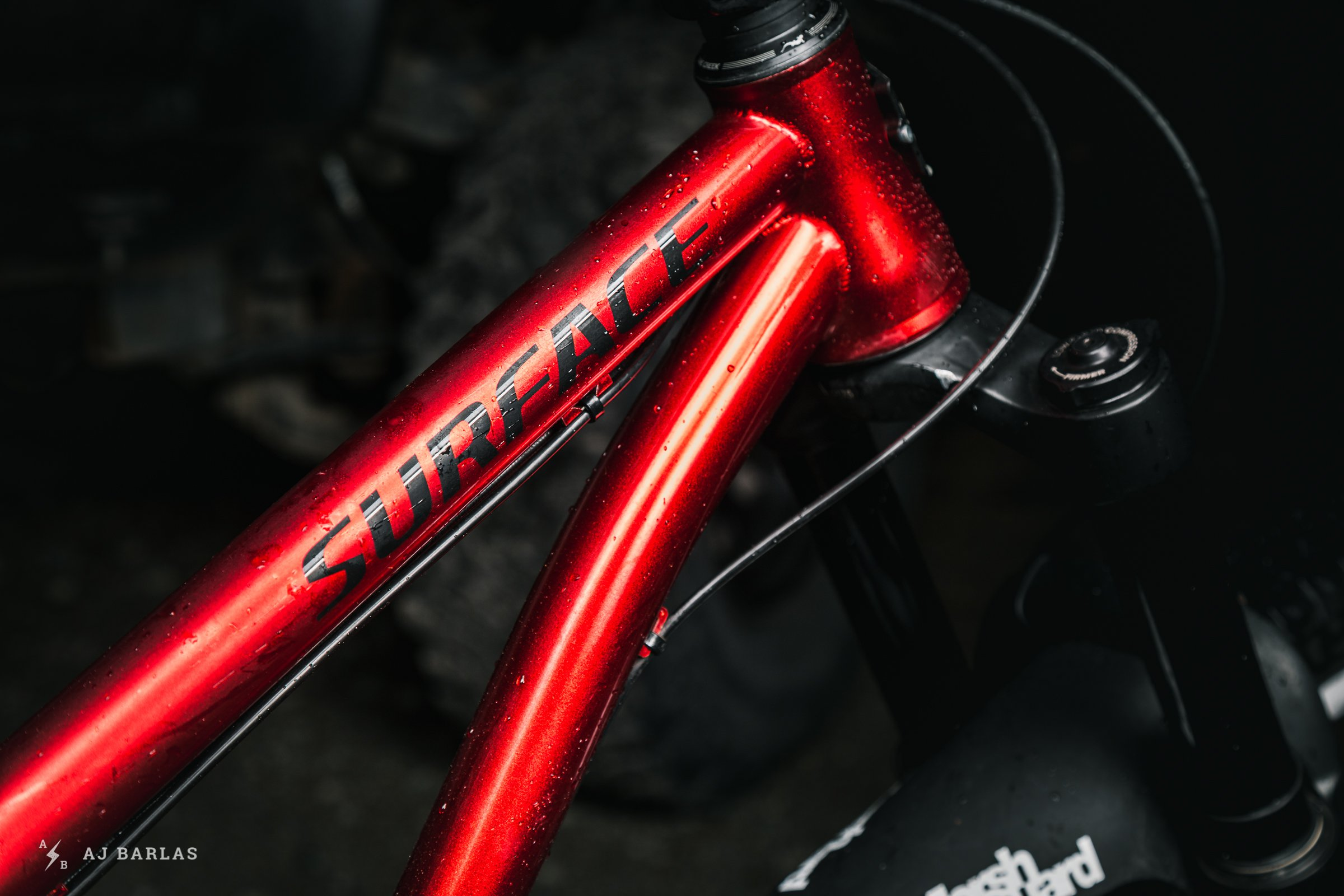 Glossy Apple Red Colour on Owen Foster's Custom Chromag Surface Sheena