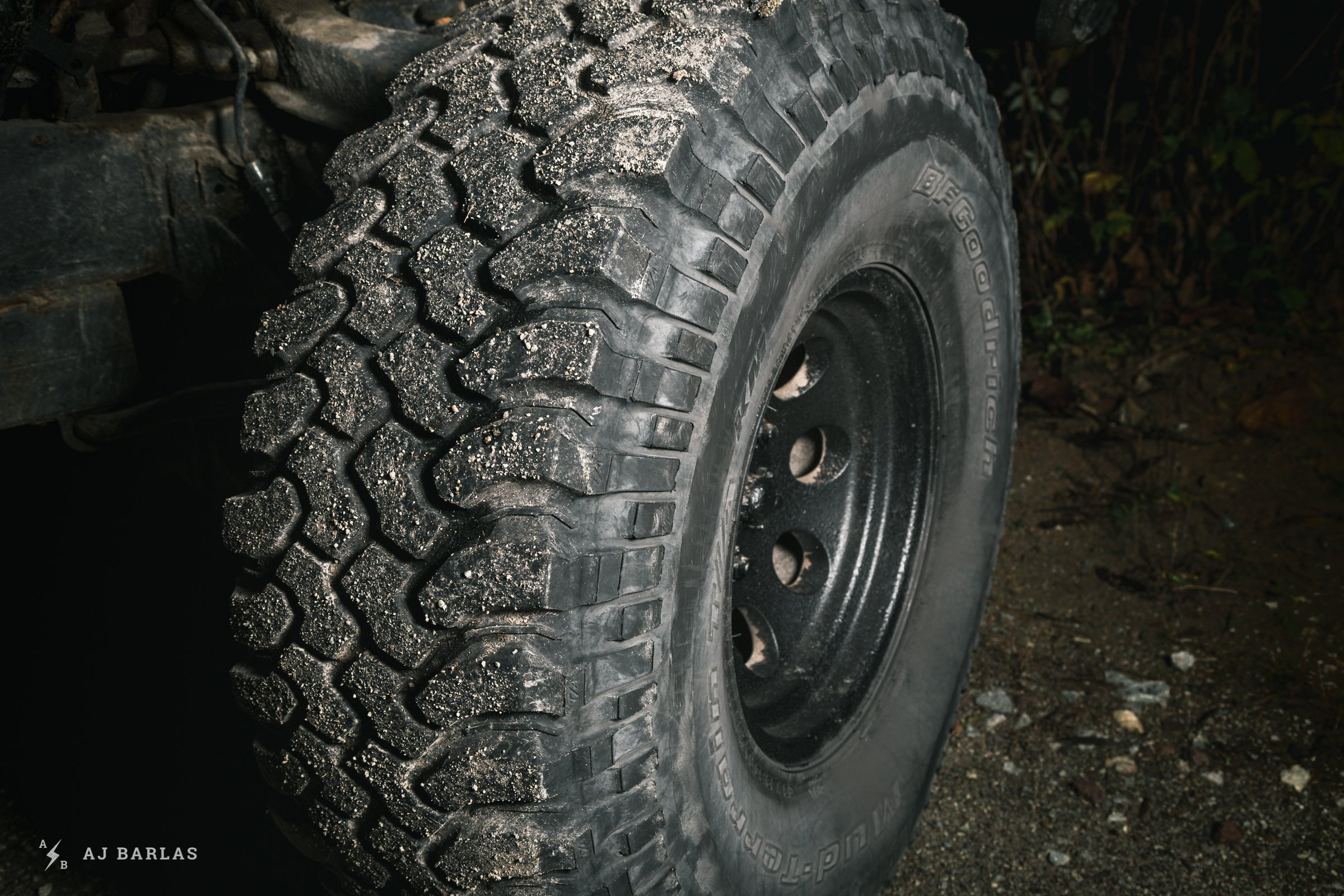 35-inch tires of Owen Foster's Toyota 4Runner Zombie