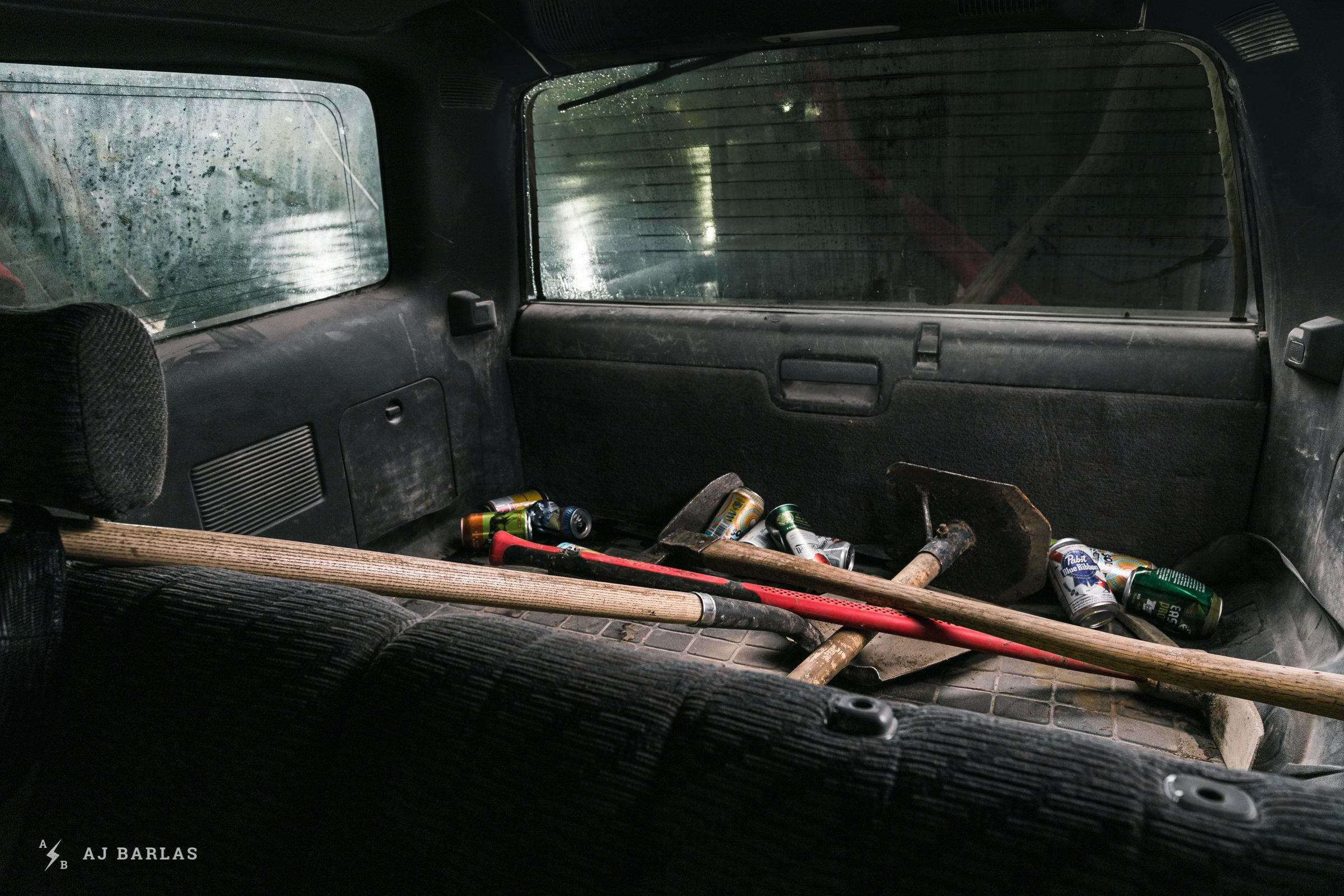 Owen Foster's Toyota 4Runner with tools living in the back
