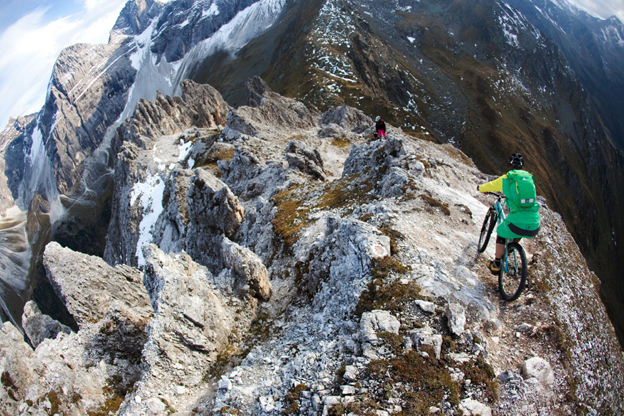 Vertriders Garggleress Austria Europe Alps exposed gnarly cliffs