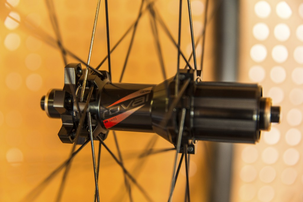 Straight pull DT Revolution spokes support the DT Swiss Hub. The star ratchet mechanism lets the competition know you are coming.