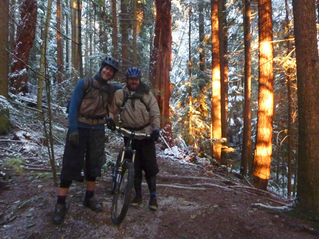nsmb, north shore, snow day.  mountain biking snow, riding in snow