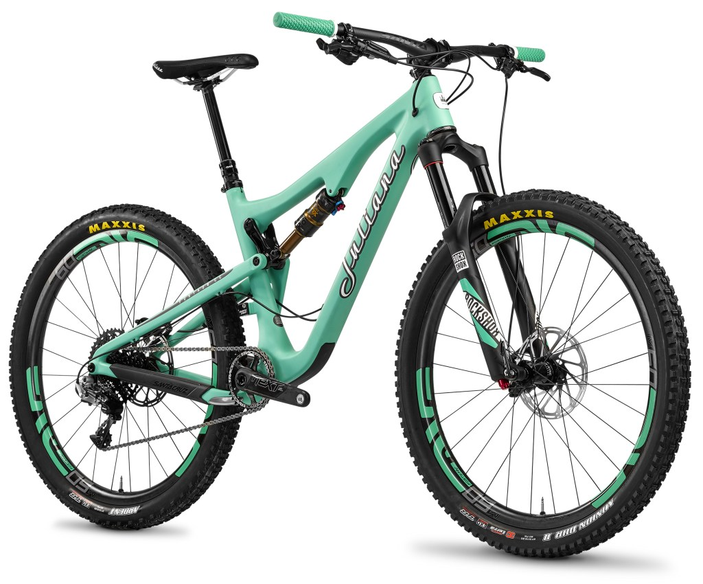 The furtive Furtado? Hardly. Juliana have reinvented colourways for women's bikes with the teal paint job  and put pink in its place.