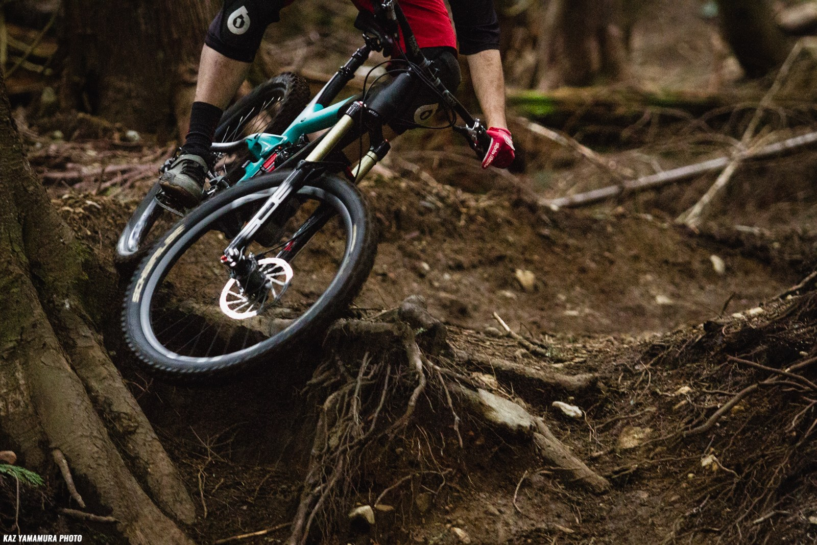 The Shimano AM5 feels equally at home pedaling up as blasting descents
