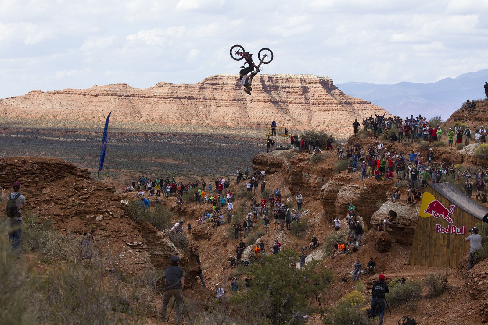 Kelly McGary throws one of the biggest backflips in the history of MTB at the 2013 edition of Red Bull Rampage.