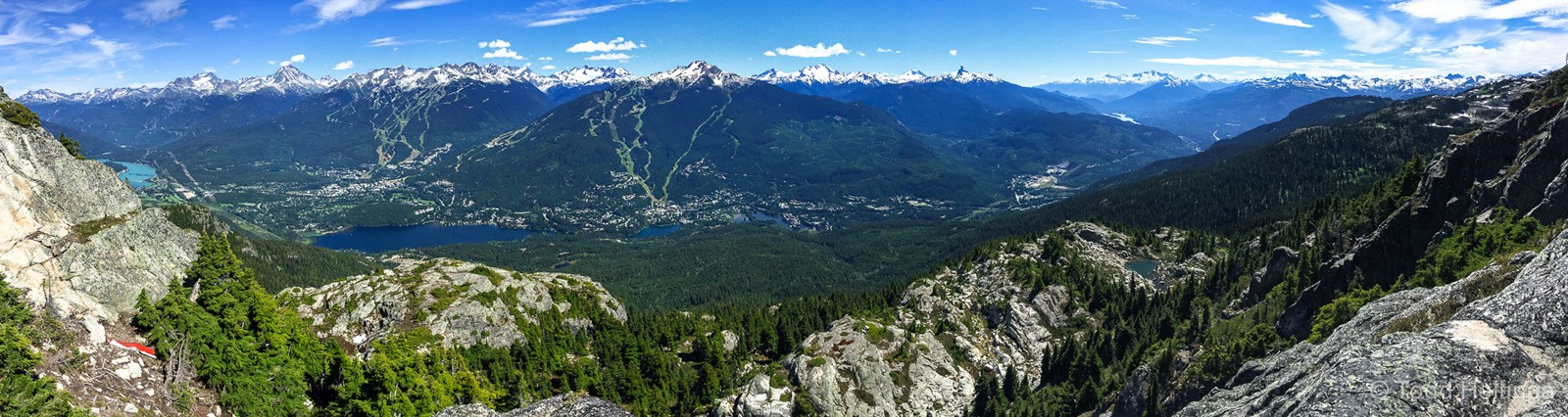 The network of trails tops out on the summit of Sproatt, way above the Whistler valley with views in 360 degrees to blow your mind.