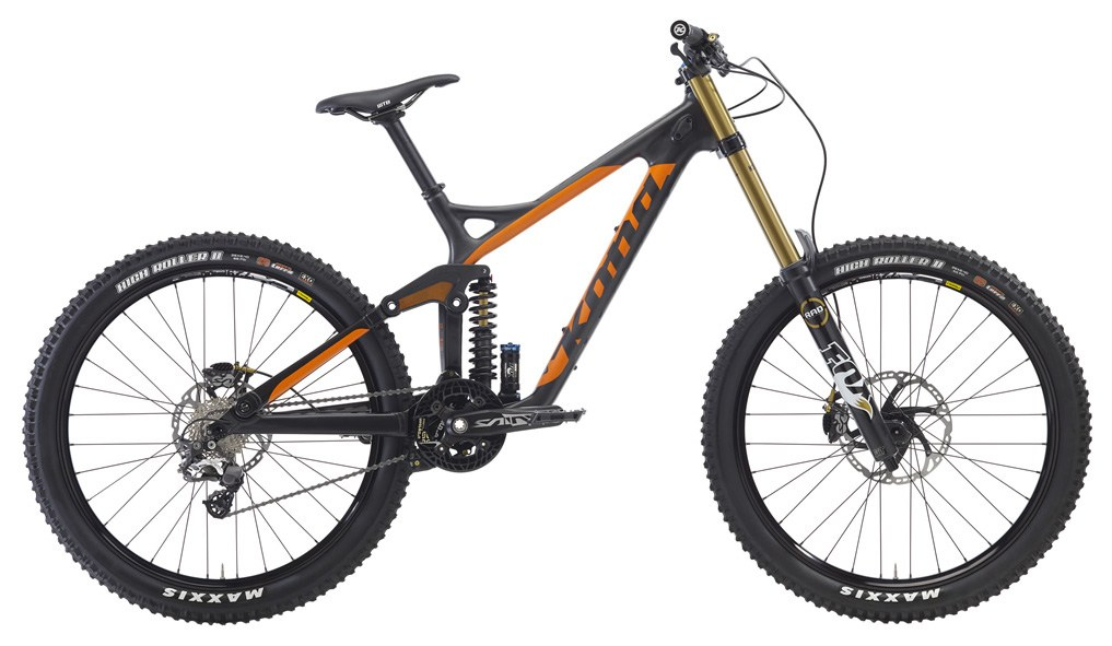 The Operator Supreme. Of course it's carbon. $6999 of World Cup-ready DH action (according to Kona).