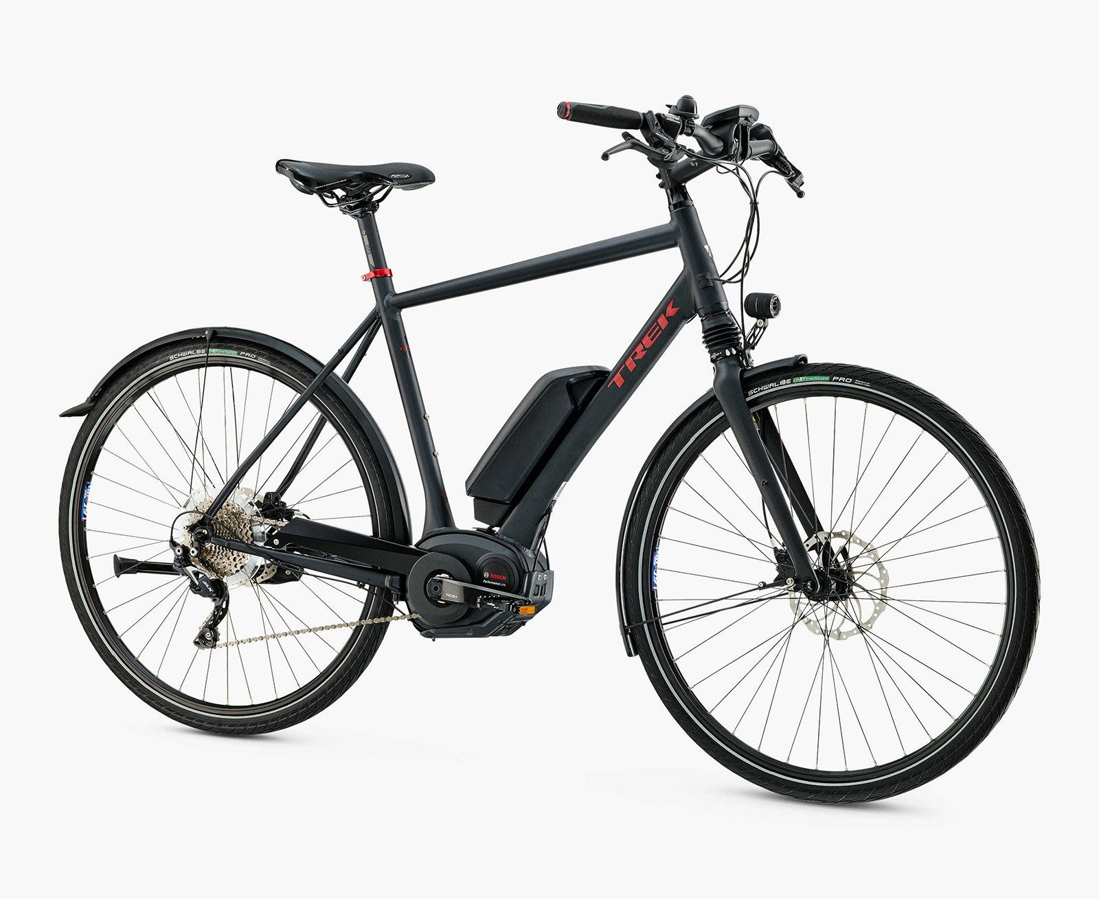 The Trek XM 700 could meet my needs. Once I add a rack and some panniers. It costs US$3500 and includes disc brakes, 1x drivetrain and a Bosch Motor.
